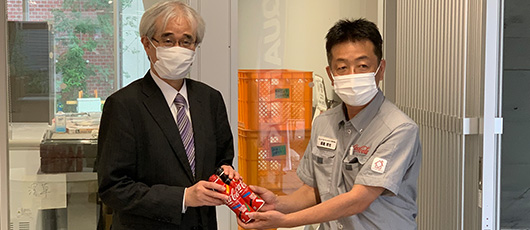 Coca-Cola products donated to Ryukoku University students!