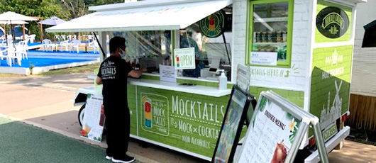 The world's first Mocktails Car debuted at Huis Ten Bosch Huis Ten Bosch original Mocktails offered for a limited time