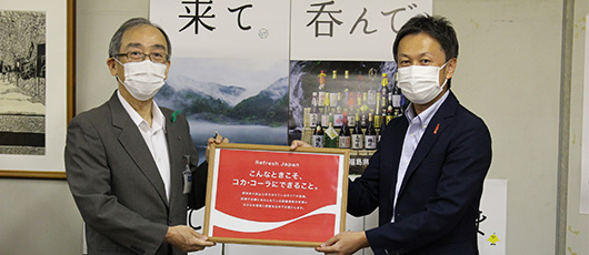 Supporting healthcare professionals committed to preventing outbreaks Coca-Cola products and masks donated to Fukushima Prefecture